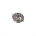 Pendente Aço Inox Mini Medalha Redonda Letra H - Prateado (15mm)
