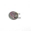 Pendente Aço Inox Mini Medalha Redonda Letra L - Prateado (15mm)