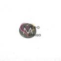 Pendente Aço Inox Mini Medalha Redonda Letra M - Prateado (15mm)
