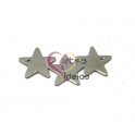Pendente Aço Inox 3 Estrelas - Prateado (35x17mm)