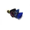 Pompom Pequeno Borla Tripla - Azul Marinho, Azul Ganga e Azul Escuro