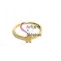 Anel Aço Inox Family Composition [Menino] - Dourado