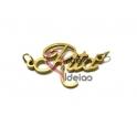 "Pendente Aço Inox NOME ""Rita"" - Dourado (28x18mm)"