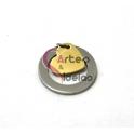 Pendente Aço Inox Aro com Coração - Prateado e Dourado (20mm)