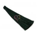 Pompom de Seda Longo - Verde Escuro (100 mm)