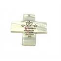 Pendente Madrepérola Cruz com Oração Anjo Guarda (50x50mm)