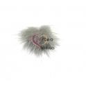 Pompom Fluffy Pequeno - Cinza