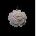 Pendente Madrepérola Flor Branca (40mm)
