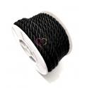 Fio de cordão Twist Náutico - Preto (5mm) - [1metro]