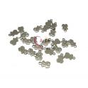 Conjunto Pendentes Aço Inox Ursinho - Prateado (12x7mm) - [25unds]
