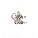 Pendente Aço Escovado Mini Cãozinho - Prateado (15x10mm)