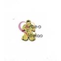 Pendente Aço Escovado Mini Cãozinho - Dourado (15x10mm)