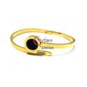 Pulseira Aço Inox Black Eye - Dourada