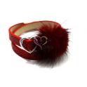 Pulseira Fluffy 2 Voltas Coração - Vermelha