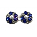 Brincos Fashion Mood Coroa de Lágrimas - Crystal e Azulão