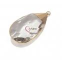Pendente Lágrima Cristal Facetado - Dourado (55x30mm)