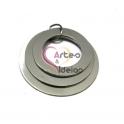 Pendente Aço Inox 3 Aros - Prateado (30,35,40mm)