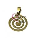 Pendente Aço Inox Espiral - Dourado (25mm)