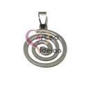 Pendente Aço Inox Espiral - Prateado (25mm)
