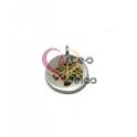 Pendente Aço Inox Medalhinha Árvore Sobreposta - Prateado e Dourado (12mm)