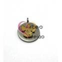 Pendente Aço Inox Medalhinha Anjinho Sobreposto - Prateado e Dourado (13mm)