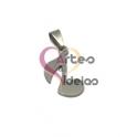 Pendente Aço Inox Nota Musical Colcheia - Prateado (20x15mm)