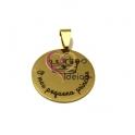 Pendente Aço Inox O Meu Pequeno Principe - Dourado (25mm)