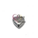 Pendente Aço Inox 3D Collection - Coração Liso Pequeno - Prateado (22x18mm)