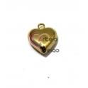 Pendente Aço Inox 3D Collection - Coração Liso Pequeno - Dourado (22x18mm)