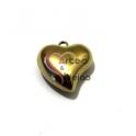 Pendente Aço Inox 3D Collection - Coração Liso Médio - Dourado (25mm)