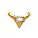 Pendente Aço Inox [Olho de Gato] Triângulo - Dourado (22x16mm)
