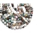 Fiada de Pedras Mesclado Branco, Castanho e Verde (8 mm) - [48unds]