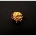 Conta Zamak Mate Romantic (2mm) - Dourado
