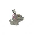 Pendente Aço Inox Cãozinho Bobi - Prateado (25mm)