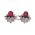 Brincos Fashion Mood 24223 Vermelho Escuro