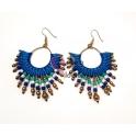 Brincos Fashion Mood Etnico Azul