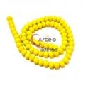 Fiada Contas Cristal Amarelo Opaco (8x6mm)
