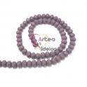 Fiada Contas Cristal Violeta Opaco (8x6mm)