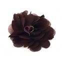 Flor de Tecido - Castanho (50mm)