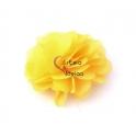 Flor de Tecido - Amarelo (50mm)