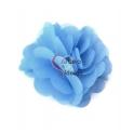Flor de Tecido - Azul Celeste (50mm)