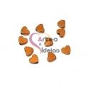 Pack 10 Contas Corações Hematites - Dourado Hematite (6x5mm)