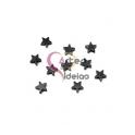 Pack 10 Contas Estrelas Hematites - Preto Hematite (6mm)