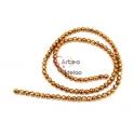 Fiada de Bolinhas Facetadas Hematites - Dourado Hematite (4mm) - [100unds]