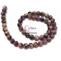 Fiada de Pedras Dalmata - Cinza, Violeta e Rosa (8 mm) - [48unds]