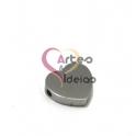 Conta Aço Inox Coração - Prateado (1.5mm)