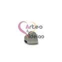 Conta Aço Inox Coração Pequeno - Prateado (1.5mm)