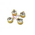 Conjunto 4 Pendentes Aço Inox Brilhante sem Argola - Dourado (10mm)