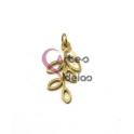 Pendente Aço Inox Folhinha - Dourado (25x12mm)