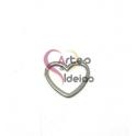 Pendente Aço Inox Coração em Aro - Prateado (15mm)